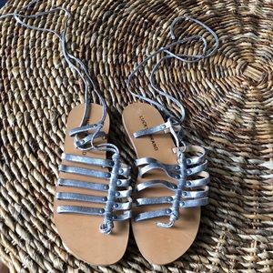 Lucky Brand Silver Metallic Sandals